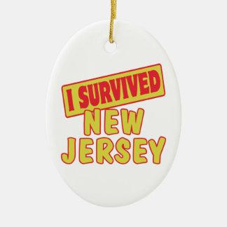 I SURVIVED NEW JERSEY CERAMIC ORNAMENT