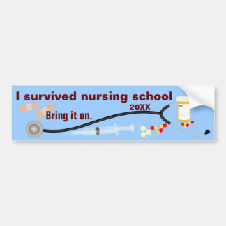 I Survived Nursing School Bumper Sticker