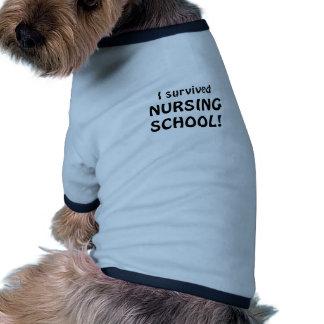 I Survived Nursing School Dog T Shirt
