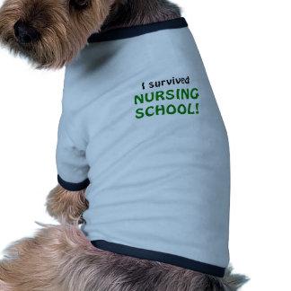 I Survived Nursing School Doggie T-shirt