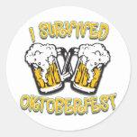 I Survived Oktoberfest Classic Round Sticker