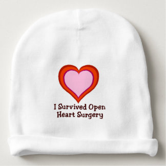 I Survived Open Heart Surgery Baby Beanie