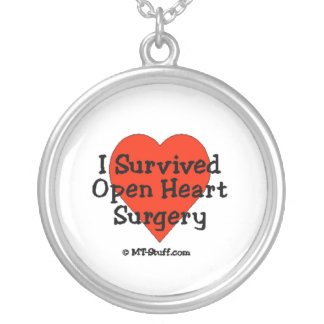 I Survived Open Heart Surgery Silver Plated Necklace