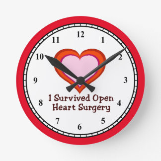 I Survived Open Heart Surgery Wall Clocks