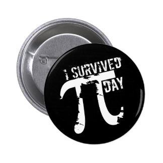 I Survived Pi Day - Funky Pi Symbol - Funny Pi Day 2 Inch Round Button