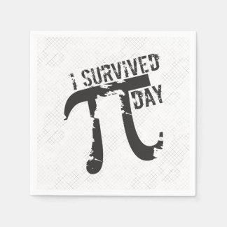 I Survived Pi Day - Funny Pi Day Disposable Napkin