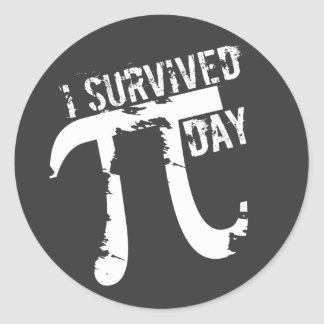 I Survived Pi Day Stickers - Funny Pi Gift