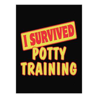 I SURVIVED POTTY TRAINING PERSONALIZED INVITATIONS