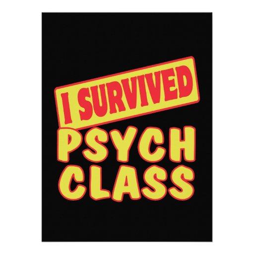 I SURVIVED PSYCH CLASS CUSTOM INVITES