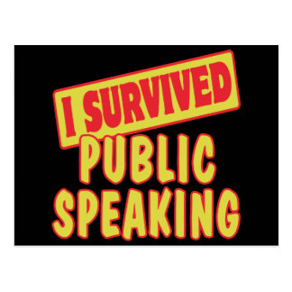 I SURVIVED PUBLIC SPEAKING POSTCARD