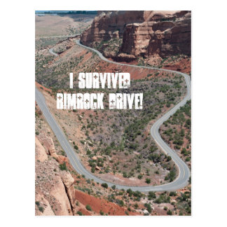 I Survived Rimrock Drive! Postcard
