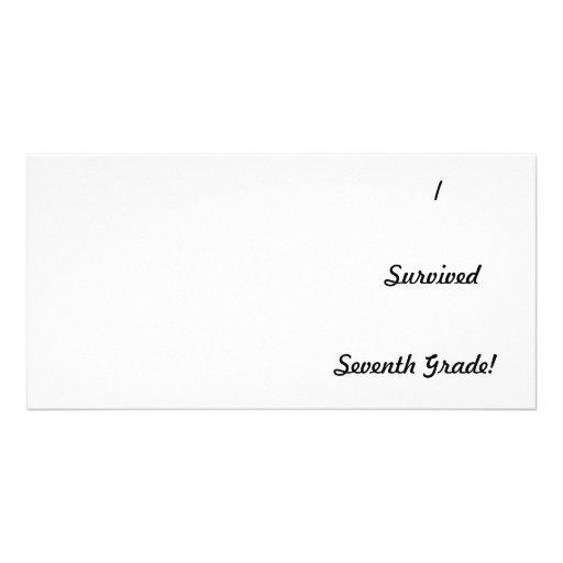 I survived Seventh Grade! Custom Photo Card
