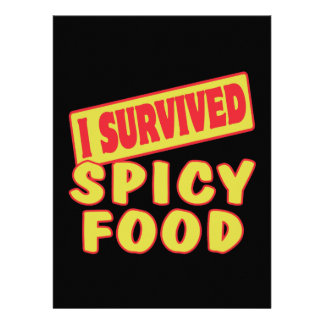 I SURVIVED SPICY FOOD PERSONALIZED INVITE