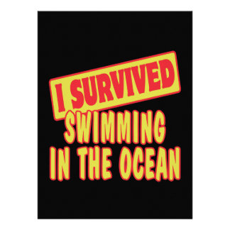 I SURVIVED SWIMMING IN THE OCEAN CUSTOM INVITES