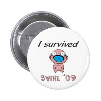 I survived Swine '09 2 Inch Round Button
