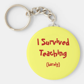 I Survived Teaching Keychain
