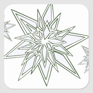 I survived the blizzard of 2014 crystal snowflakes square sticker