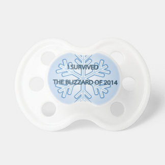 I survived the blizzard of 2014 snowflake baby pacifier