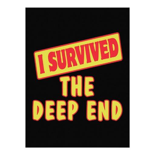 I SURVIVED THE DEEP END INVITATION