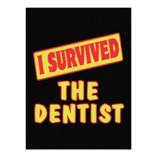 I SURVIVED THE DENTIST CUSTOM INVITES