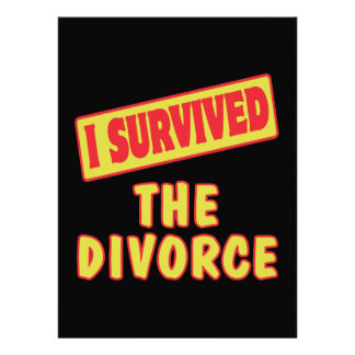 I SURVIVED THE DIVORCE CUSTOM ANNOUNCEMENT