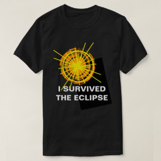 I Survived The Eclipse funny customizable T-Shirt
