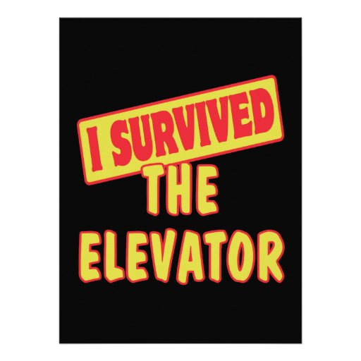 I SURVIVED THE ELEVATOR CUSTOM INVITATIONS