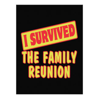 I SURVIVED THE FAMILY REUNION CUSTOM INVITE