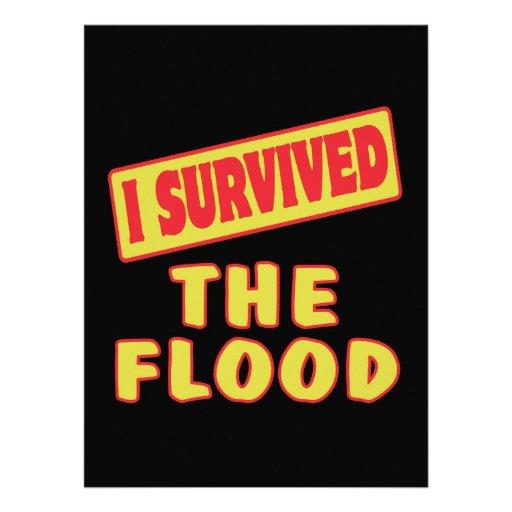 I SURVIVED THE FLOOD CUSTOM INVITATION