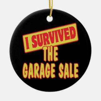 I SURVIVED THE GARAGE SALE CERAMIC ORNAMENT