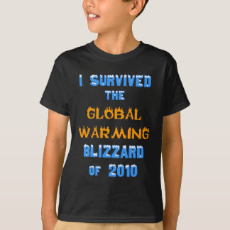 I Survived the Global Warming Blizzard of 2010 T-Shirt