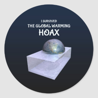 I Survived The Global Warming Hoax Round Sticker