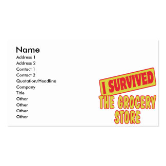I SURVIVED THE GROCERY STORE Double-Sided STANDARD BUSINESS CARDS (Pack OF 100)