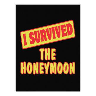 I SURVIVED THE HONEYMOON CUSTOM INVITE
