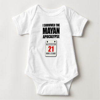I Survived The Mayan Apocalypse 2012 (calendar) Baby Bodysuit