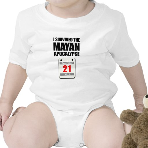 I Survived The Mayan Apocalypse 2012 (calendar) Bodysuits