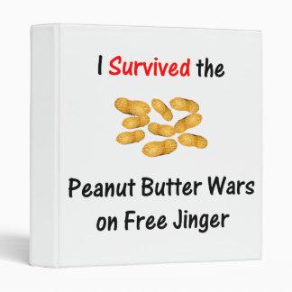 I Survived the Peanut Butter Wars at Free Jinger 3 Ring Binder