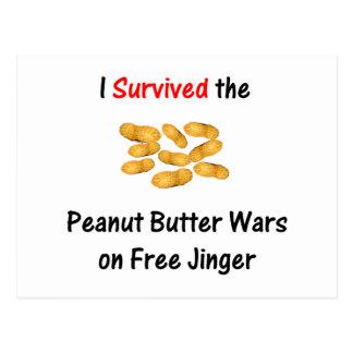 I Survived the Peanut Butter Wars at Free Jinger Postcard