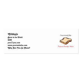 I survived the Peanut Butter Wars Pack Of Skinny Business Cards