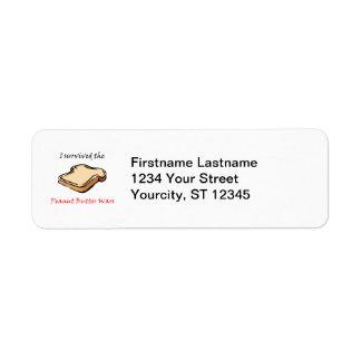 I survived the Peanut Butter Wars Return Address Labels