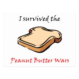 I survived the Peanut Butter Wars Postcard