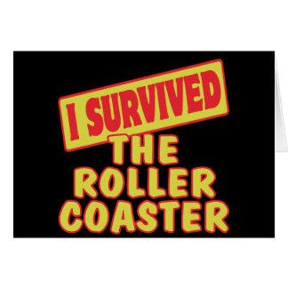 I SURVIVED THE ROLLER COASTER CARD