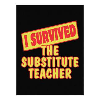 I SURVIVED THE SUBSTITUTE TEACHER CUSTOM INVITATIONS