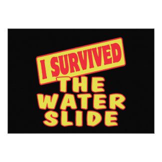 I SURVIVED THE WATER SLIDE CUSTOM ANNOUNCEMENTS