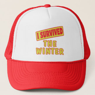 I SURVIVED THE WINTER TRUCKER HAT