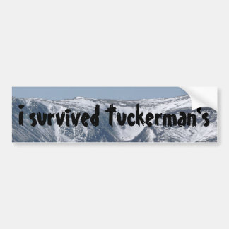 I Survived Tuckerman's Bumper Sticker