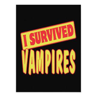 """I SURVIVED VAMPIRES 6.5"""" X 8.75"""" INVITATION CARD"""