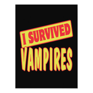 I SURVIVED VAMPIRES 6.5X8.75 PAPER INVITATION CARD