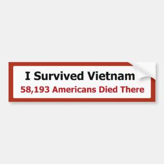 I SURVIVED VIETNAM BUMPER STICKER