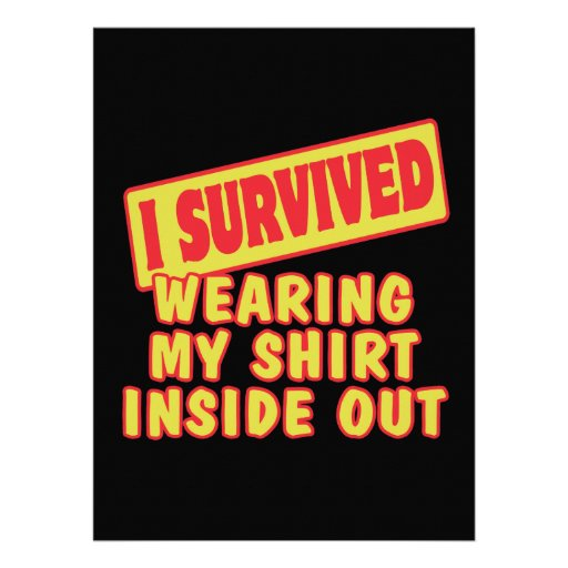 I SURVIVED WEARING SHIRT INSIDE OUT PERSONALIZED INVITATION
